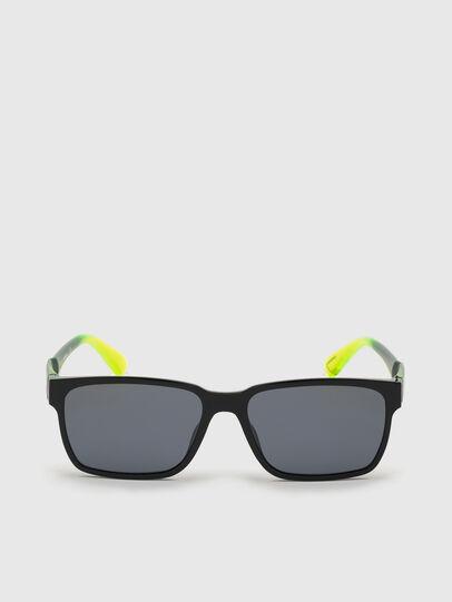 Diesel - DL0327, Black/Yellow - Sunglasses - Image 1