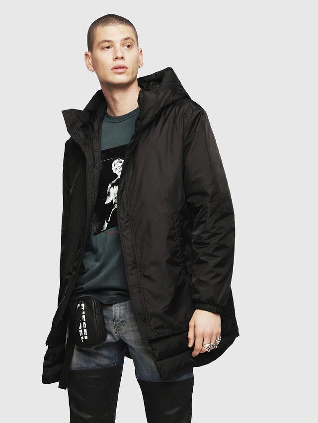 Diesel - W-SUN-REV-A, Black - Winter Jackets - Image 1