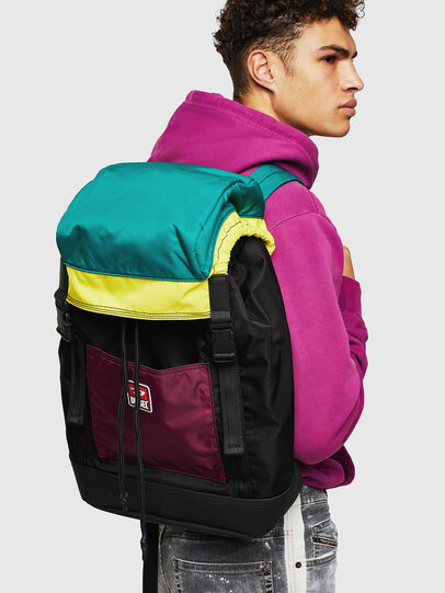 Diesel - F-SUSE BACKPCK, Multicolor/Black - Backpacks - Image 8