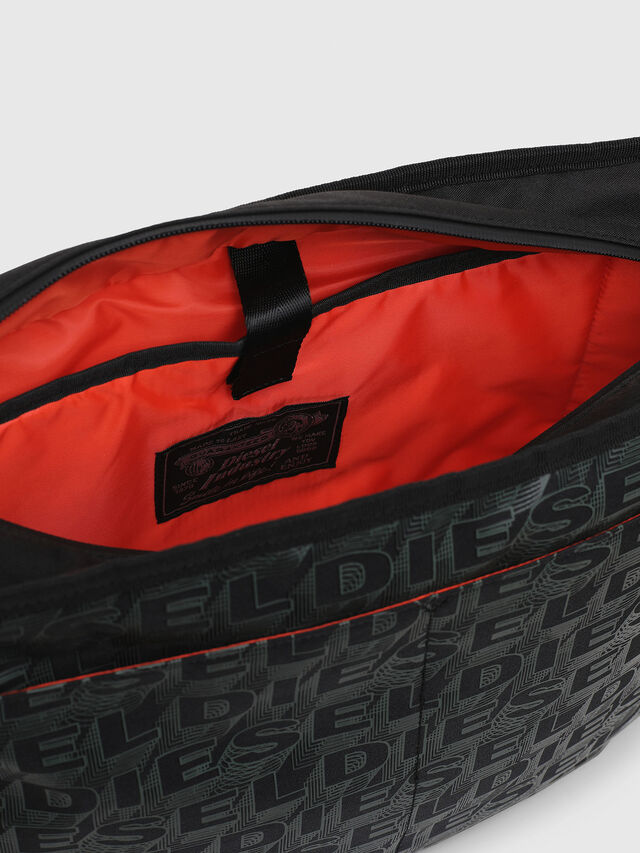 Diesel - F-DISCOVER MESSENGER, Black/Green - Travel Bags - Image 5