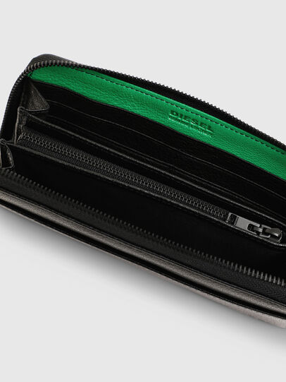 Diesel - 24 ZIPOCKET, Black/Green - Zip-Round Wallets - Image 5
