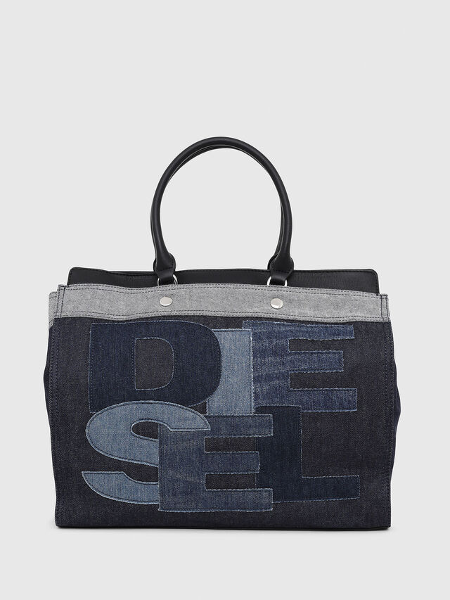 Diesel - F-DESTAR SHOPPER M, Blue Jeans - Shopping and Shoulder Bags - Image 1