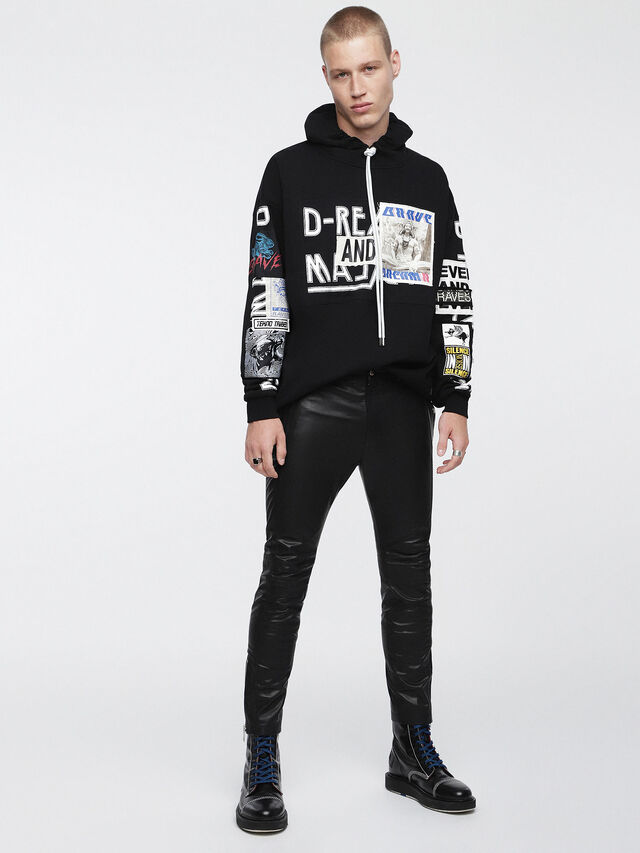 Diesel - P-MONTE-L, Black Leather - Pants - Image 5