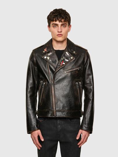 Diesel - L-GARRETT-NEW, Black - Leather jackets - Image 1