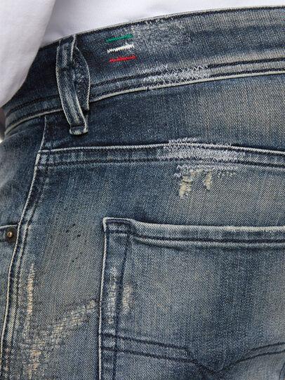 Diesel - Sleenker 069NI, Dark Blue - Jeans - Image 7