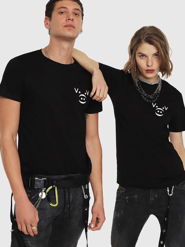 Diesel - CL-T-GADIE, Black - T-Shirts - Image 5