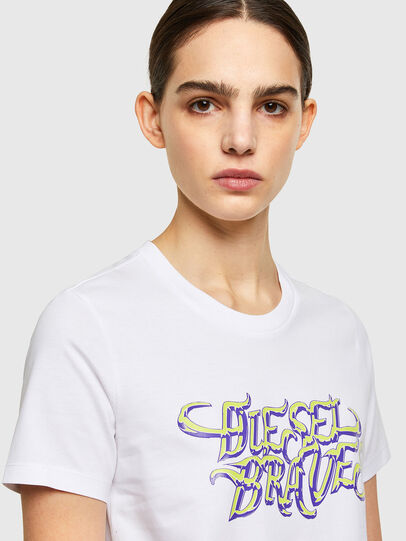 Diesel - T-SILY-K8, White - T-Shirts - Image 3