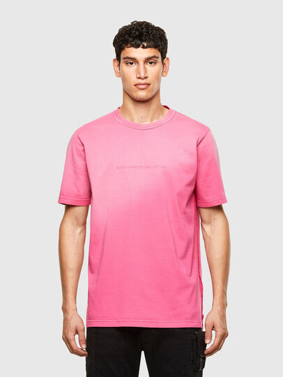 Diesel - T-JUBIND-SLITS-A1, Pink - T-Shirts - Image 1