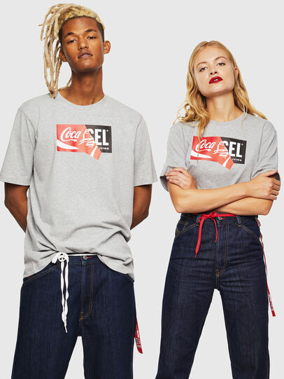 Diesel - CC-T-JUST-COLA, Grey - T-Shirts - Image 6
