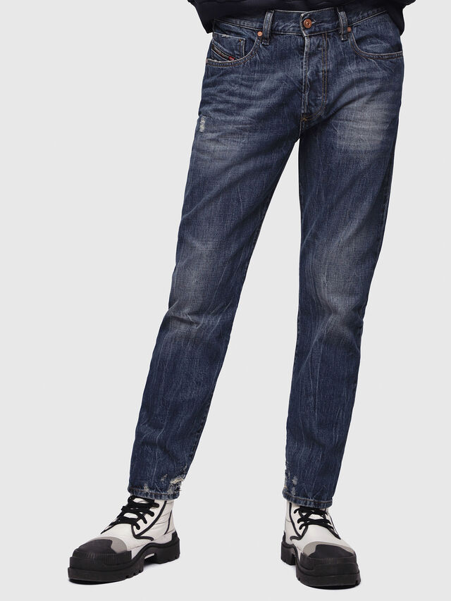 Diesel - Mharky 080AG, Dark Blue - Jeans - Image 1