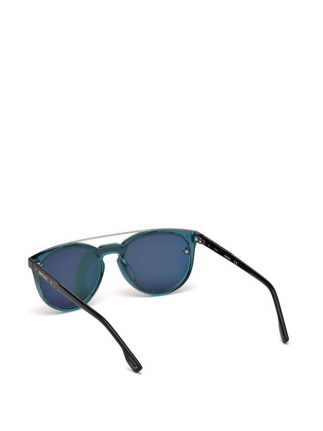 Diesel DL0216, Blue/Orange - Eyewear - Image 2