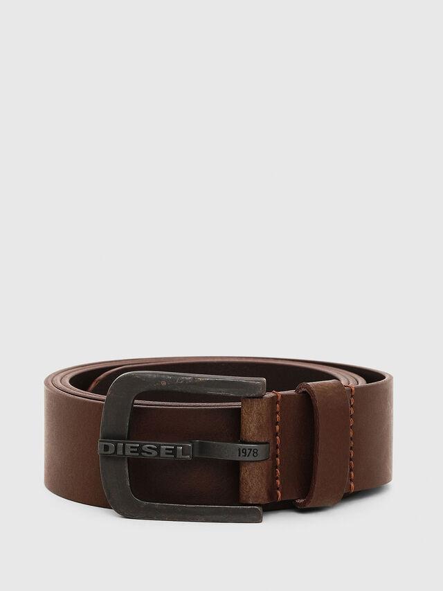 Diesel B-DART, Brown Leather - Belts - Image 1