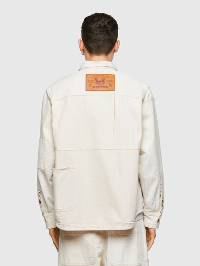 Diesel - D-HORUS-SP, White - Denim Shirts - Image 3