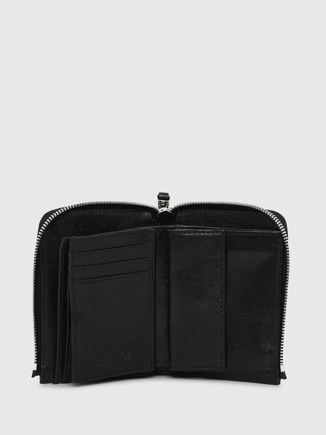 Diesel - L-12ZIP, Black - Small Wallets - Image 3
