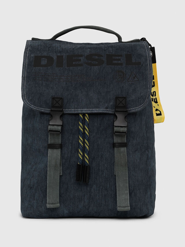 Diesel - VOLPAGO BACK, Blue Jeans - Backpacks - Image 1
