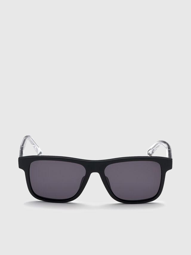 Diesel - DL0279, Black/White - Sunglasses - Image 1