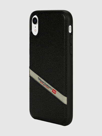 Diesel - DIESEL LEATHER CO-MOLD CASE FOR IPHONE XR, Black - Cases - Image 5
