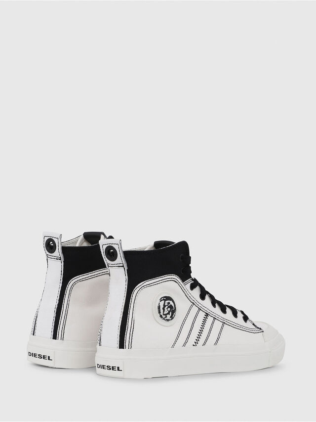 Diesel - S-ASTICO MID LACE, White/Black - Sneakers - Image 3