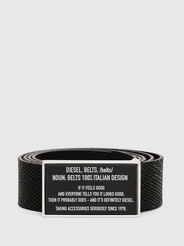 Diesel - B-LAZISE, Black - Belts - Image 1