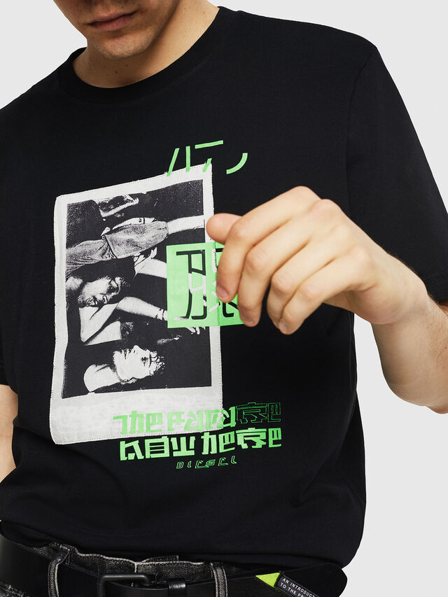 Diesel - T-JUST-Y21, Black - T-Shirts - Image 3
