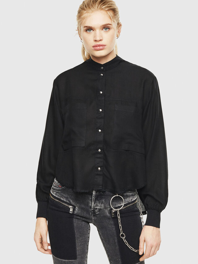Diesel - C-SUPER-E, Black - Shirts - Image 1