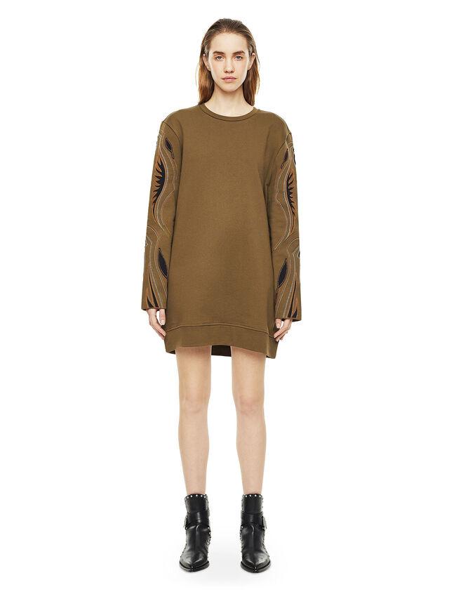 Diesel - DRESSIE, Military Green - Dresses - Image 1