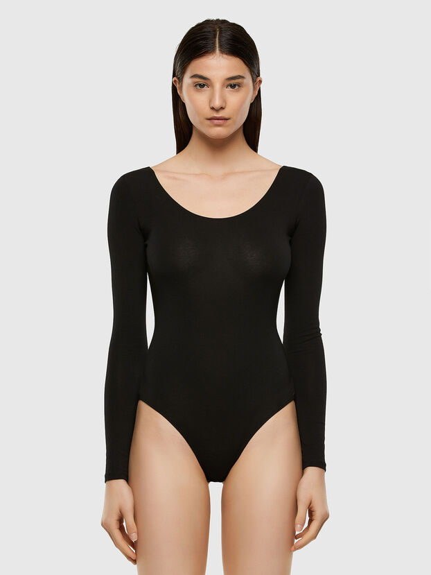 UFBY-BODY-LS, Black - Bodysuits