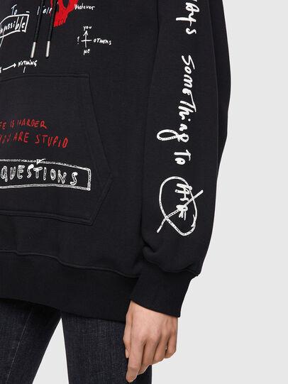 Diesel - F-EXA-HOOD, Black - Sweaters - Image 5