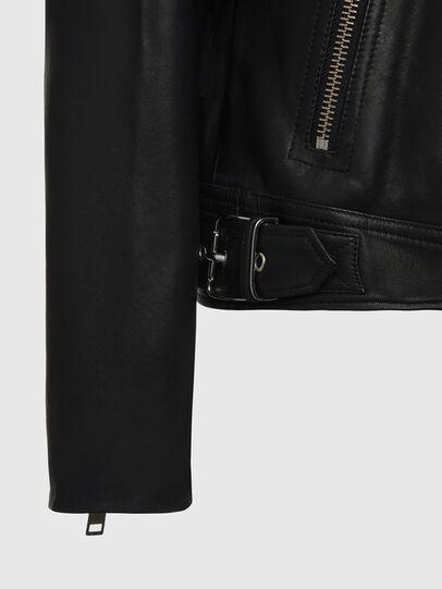 Diesel - L-CODY, Black - Leather jackets - Image 5