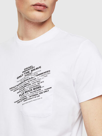 Diesel - T-WORKY-S1, White - T-Shirts - Image 3