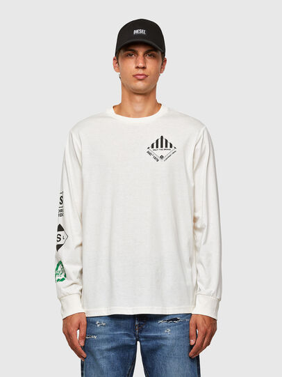 Diesel - T-JUST-LS-N60, White - T-Shirts - Image 1