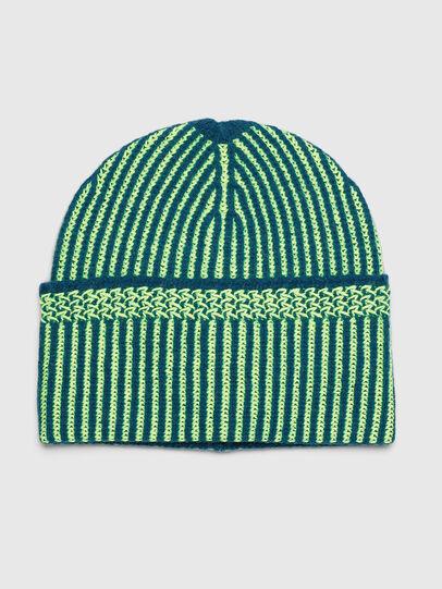 Diesel - K-MANNYS, Blue/Yellow - Knit caps - Image 1