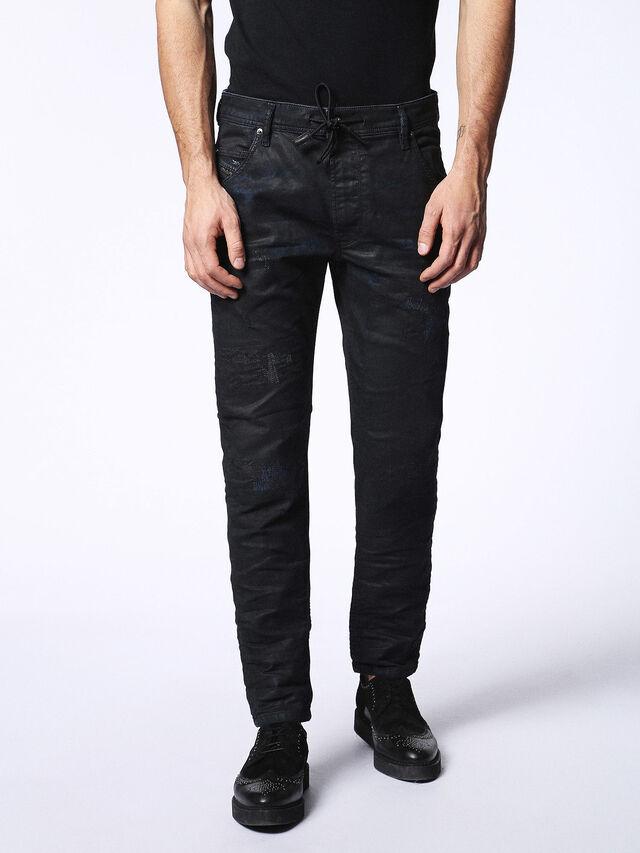 Diesel - KROOLEY CB JOGGJEANS 0680B, Black - Jeans - Image 2