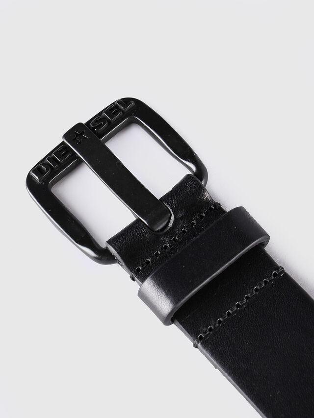 Diesel B-STAR, Black Leather - Belts - Image 2