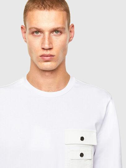 Diesel - T-TASK-LS, White - T-Shirts - Image 3