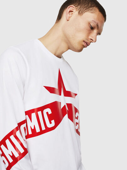 Diesel - T-JUST-LS-STAR, White - T-Shirts - Image 4