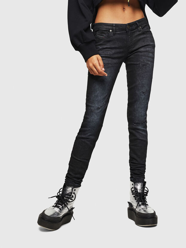 Gracey JoggJeans 069GP, Black/Dark grey - Jeans