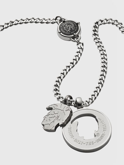 Diesel - DX1201, Silver - Necklaces - Image 2