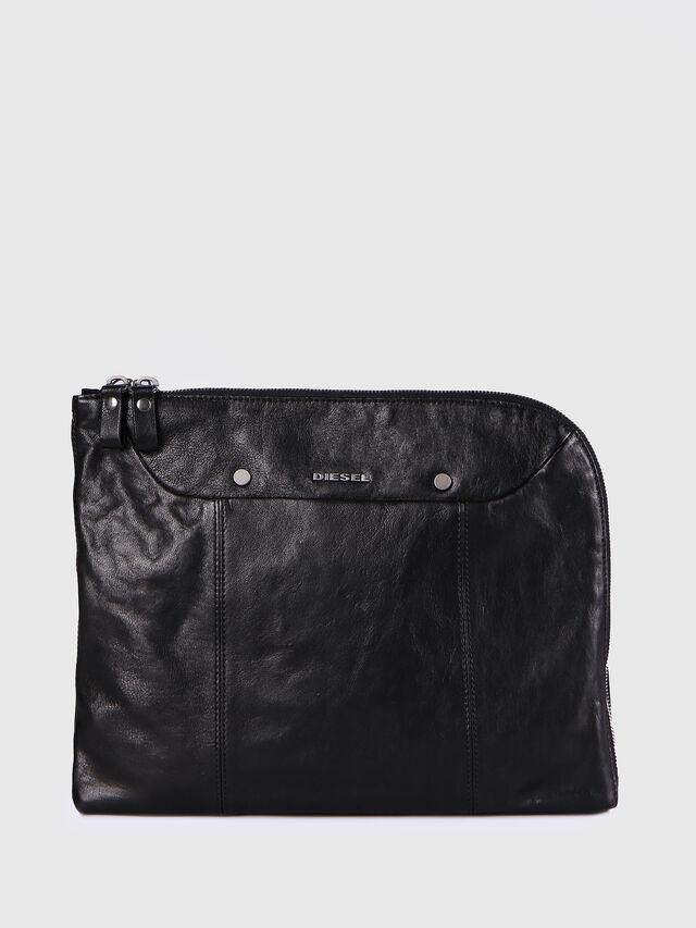 Diesel - L-L4CLUTCH, Black Leather - Clutches - Image 1