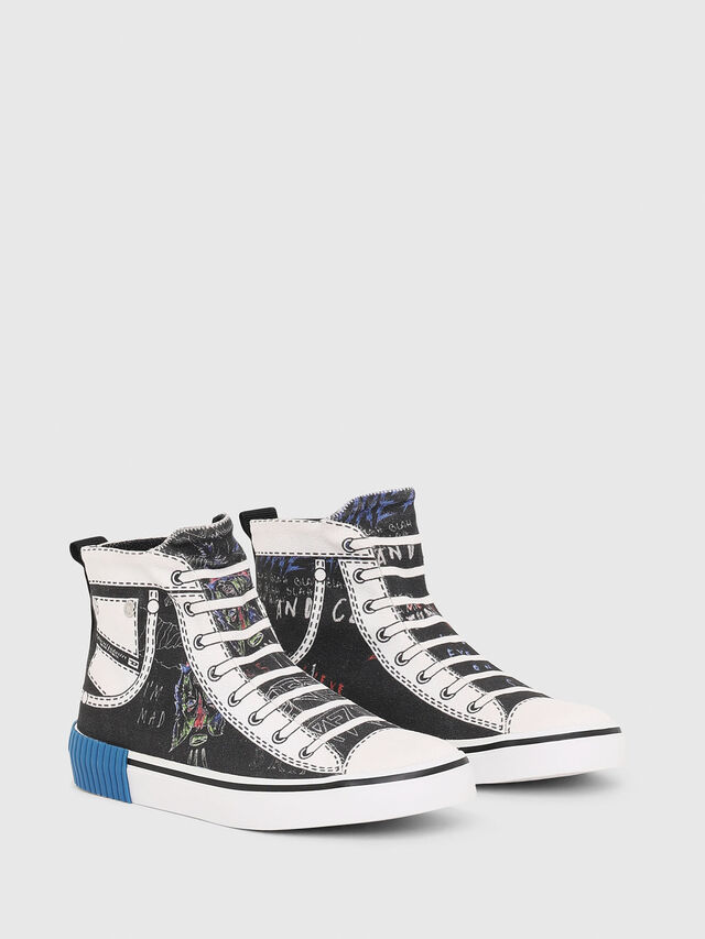 Diesel - SN MID 08 GRAPHIC CH, Black/White - Footwear - Image 2