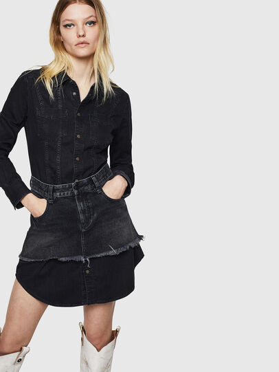 Diesel - DE-DARI, Black/Dark grey - Dresses - Image 1