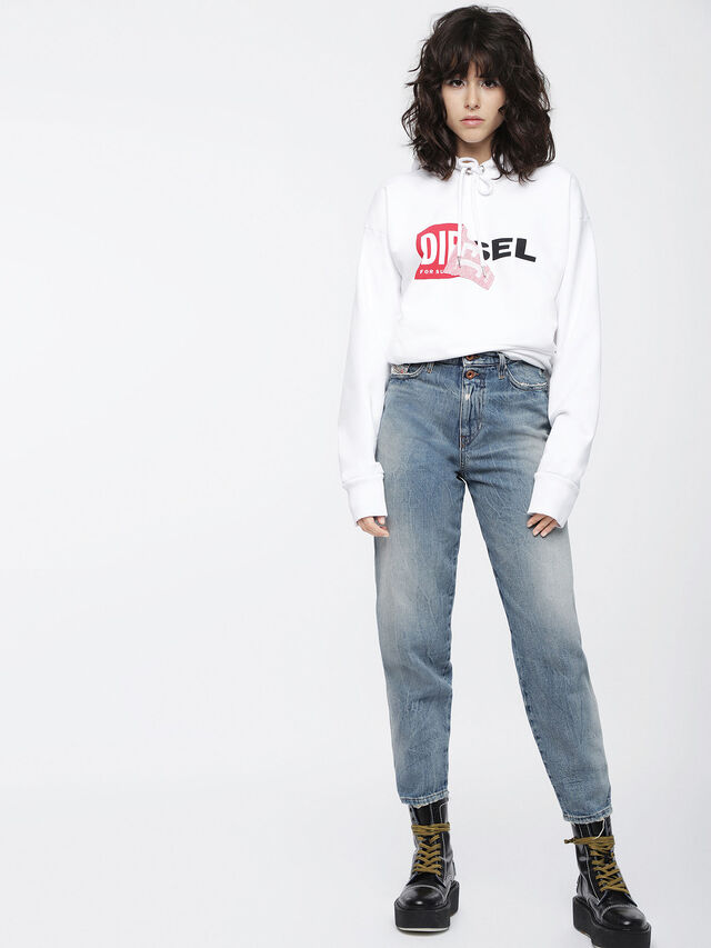 Diesel - F-ALBY-FL-A, White - Sweaters - Image 4