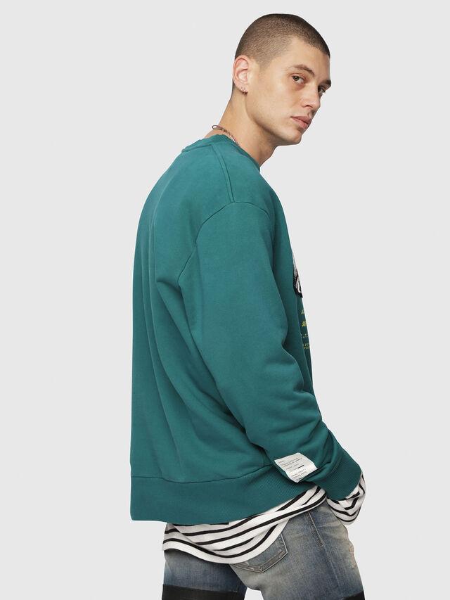 Diesel - S-BAY-YC, Dark Green - Sweaters - Image 2