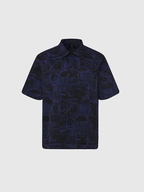 S-ROHAD-B, Blue/Black - Shirts