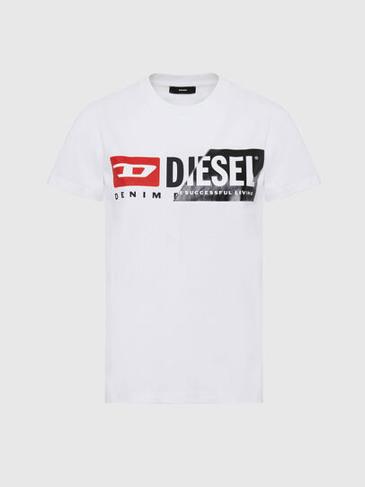 Diesel - T-SILY-CUTY, White - T-Shirts - Image 1