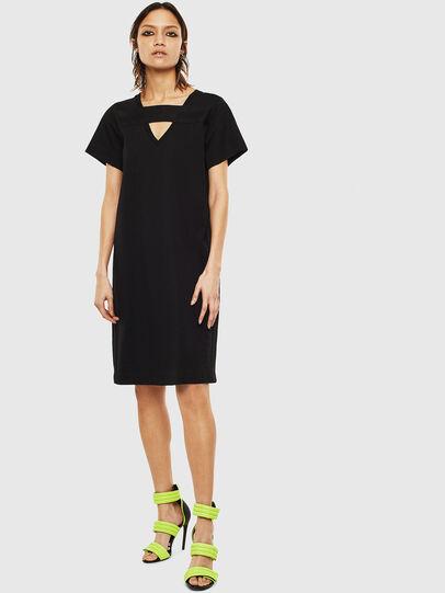 Diesel - D-STRIPE, Black - Dresses - Image 1