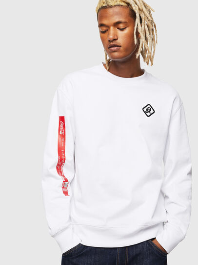 Diesel - CC-S-BAY-COLA, White - Sweaters - Image 1