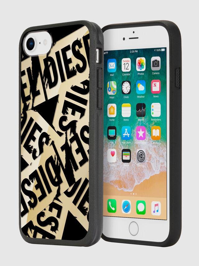 Diesel - MULTI TAPE GOLD/BLACK IPHONE 8/7/6S/6 CASE, Gold - Cases - Image 1