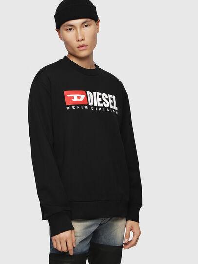 Diesel - S-CREW-DIVISION, Black - Sweaters - Image 1