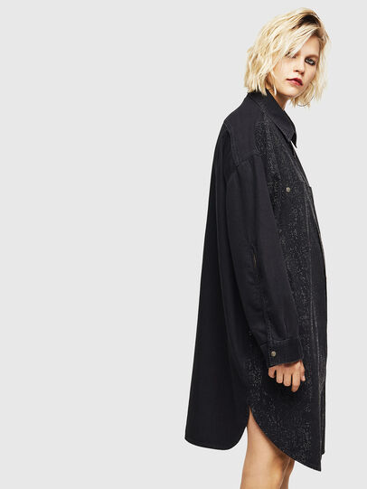 Diesel - DE-OBAX-SX, Black/Dark grey - Dresses - Image 4